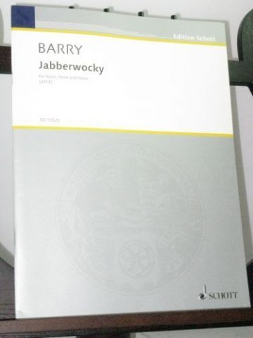 Barry G - Jabberwocky for Voice (Tenor or Soprano) Horn & Piano